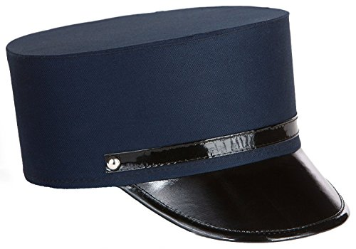 Kangaroos Cotton Navy Blue Adult Train Engineer; Conductor Hat - Adult Train Engineer Hat