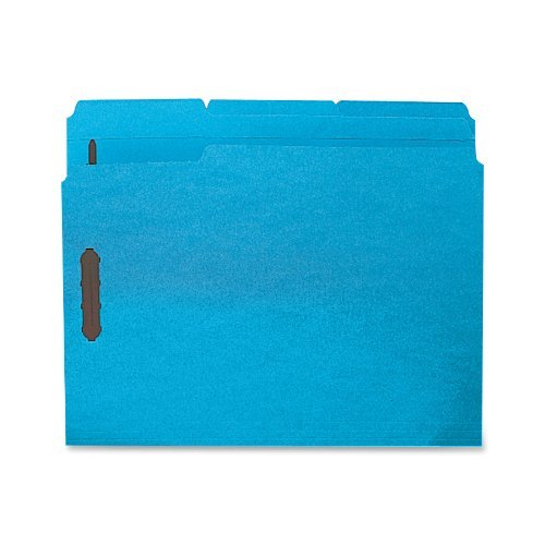 Folders W/2 Ply Tabs - Sparco SP17267 Fastener Folders,w/2-Ply Tab,1/3 AST Tab,50/BX,LTR,Blue