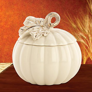 Lenox China Pumpkin Covered Box