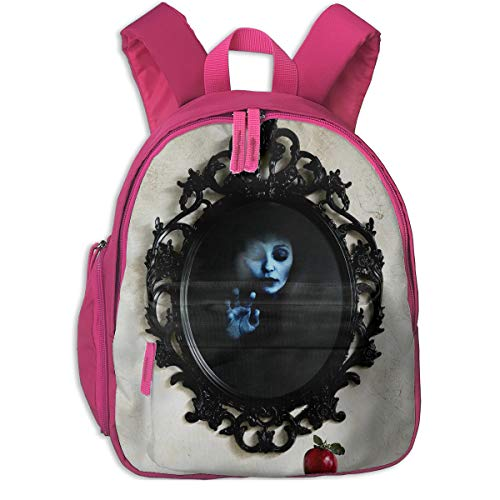 Halloween Wall Mirror Scary Creepy Spooky Children School Bag Book Backpack Outdoor Travel Pocket Double -