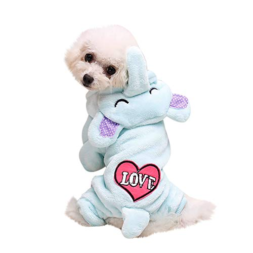 Pet Clothes Dog Cat Cute Pig Brown Bear Elephant Koalas Transfiguration Coat Dress Up Warm Dog Apparel Jacket Small Pet Clothes Sweatshirt Pig Sweater Dog Winter Outfits Doggy Costume (Sky Blue, XL)]()