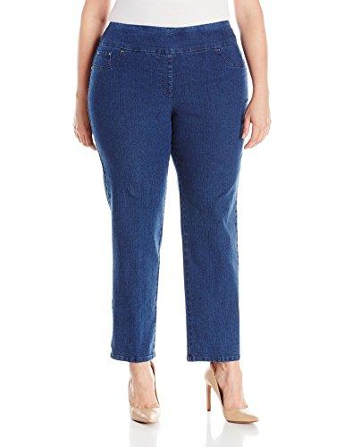 Ruby Rd. Women's Plus-Size Pull-On Extra Stretch Denim Jean, Indigo, 20W
