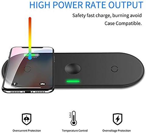 IPhone 11/11のPro / X/のX最大/XR / 8プラス/サムスンS10 / S10 + / S9 / S9 + / S8 + /注9と対応シリーズ1 2 3 4 5 iWatch用のパッドを充電する無線充電器、3 1つの10W高速無線で、