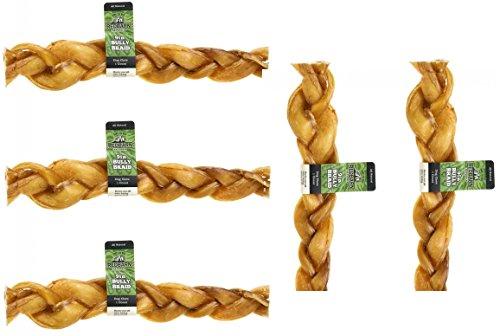 (5 Pack) Redbarn Premium Braided Bully Sticks 9 Inch from REDBARN NATURALS