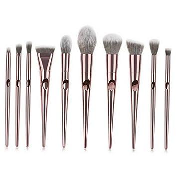 10d26fc779f6 Amazon.com: Kaputar 1/10x Pro Makeup Brushes Set Foundation Powder ...