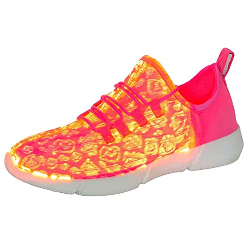 softance Fiber Optic LED Shoes Light Up Sneakers for...