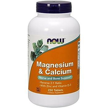 NOW Magnesium & Calcium,250 Tablets