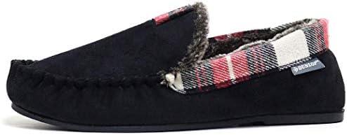 Dunlop Zapatilla George tipo mocasín para hombre, de piel de oveja sintética, suela de goma: Amazon.es: Zapatos y complementos