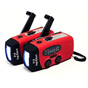 41R9CcKwHsL. SS300  - topAlert 2-PACK HY-88WB Emergency Dynamo Solar Self Powered AM/FM/WB(NOAA) Radio, Flashlight, Charger for Cell Phones: iPhone, iPad, iTouch, Android, Smartphone, USB device