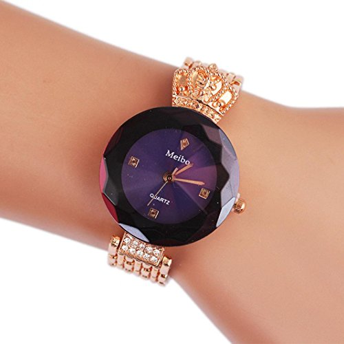 gn Crown Women's Alloy Pointer Quartz Wrist Watch Gift (Purple) (Pointer Wrist Woman Watch)