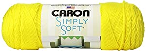 Caron Simply Soft Brites Yarn, 6 Ounce, Super Duper Yellow, Single Ball