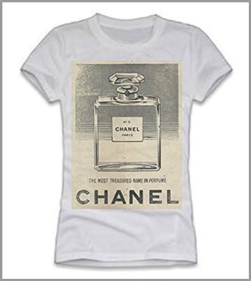 40e5f9c1fb T-shirt donna- Chanel: Amazon.co.uk: Sports & Outdoors
