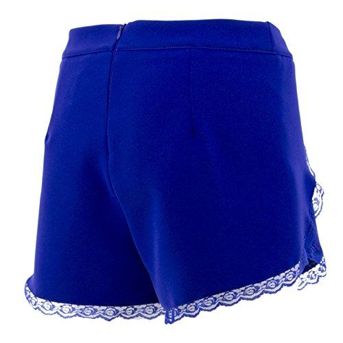 Pantaloncini Con Bermuda Blu Corti Donna Pantaloni Estivi Netgozio Italy In Made Pizzo RHBqpwq