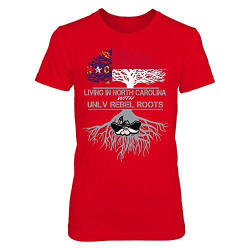 UNLV Rebels - Living Roots North Carolina - District Women's Premium T-Shirt - Officially Licensed Fashion Sports - Premium North Vegas Las