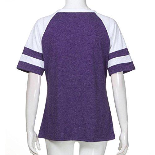 SANFASHION Mujer Para SANFASHION de Bailarinas Damen Morado Bekleidung Shirt155 Poliéster RrwxqURf
