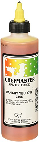 Canary Yellow Colour - Chefmaster Airbrush Spray Food Color, 9-Ounce, Canary Yellow