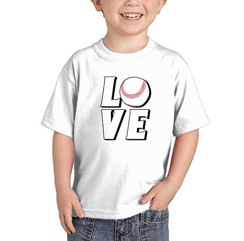 Love Baseball - Sports Future All Star Infant/Toddler Cotton Jersey T-Shirt (White, 5T)