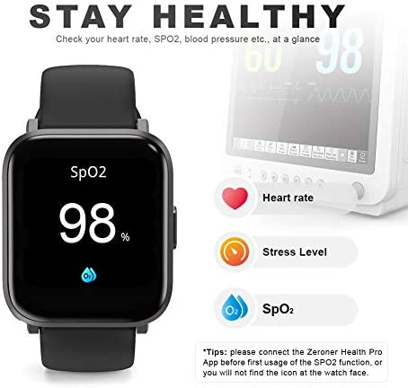 Smart Watch, UXD Fitness Activity Tracker with Sleep Heart Rate Monitor for Men Women 5ATM Waterproof Pedometer Smartwatches for iPhone Samsung Android Phones 41R9EE9OYsL