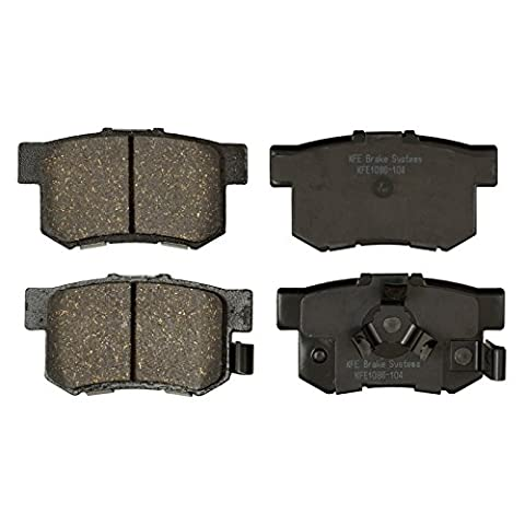 KFE Ultra Quiet Advanced KFE1086-104 Premium Ceramic REAR Brake Pad Set - Auto Brake Tune