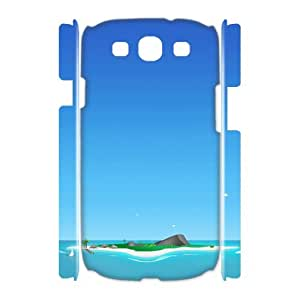 3D Samsung Galaxy S3 Case, Girly Protective Blue Sky Case for Samsung Galaxy S3 {White}