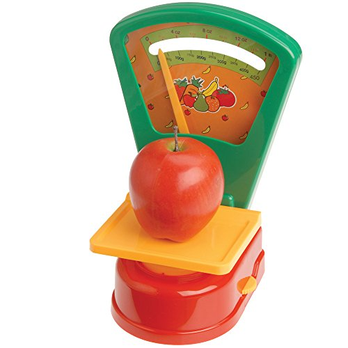Produce Scale - for Weighing Pretend Food, Grocery Store Play and Teaching Measuring and Math Skills -