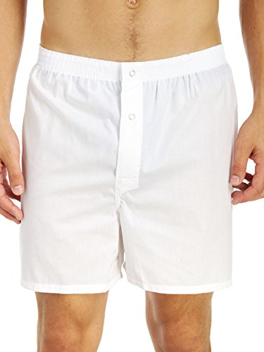 Munsingwear Men's Gripper Woven Boxer - 2 Pack, White, Large