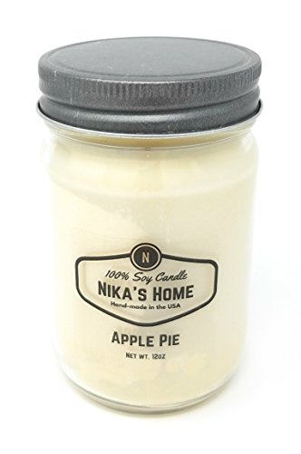 Nika's Home Apple Pie Soy Candle - 12oz Mason Jar