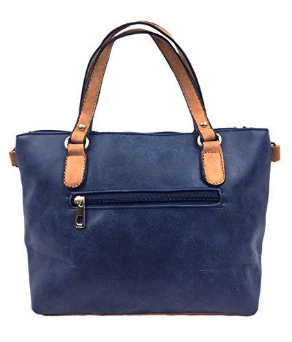 Designer Strap Beautiful Candy Women's Blue Shoulder Ladies Navy Grab Handbags Detachable with for Bag Adjustable rwUqFxr7