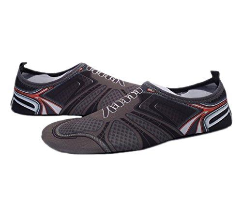 Zapatos De Agua Wave Pool Beach Swim Aqua Socks Yoga Para Mujer Slip On Para Santimon Character Gray