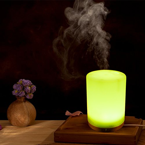 200ML Essential Oil Diffuser -Glowseen Aromatherapy Ultrasonic Cool Mist Humidifier with Colorful LED light Auto Shut-Off for Spa ,Home ,Kitchen and Office by GS GLOWSEEN (Image #5)