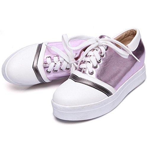 Coolcept Zapatos de Tacon Medio para Mujer Purple