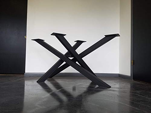 Criss Cross Metal Table Base - Any Size and Color