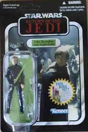 Luke Skywalker Jabbas Palace - Star Wars Vintage 2011 Luke Skywalker Jedi Knight Outfit - Alternative Packaging - Very Rare