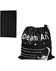 Dream Art Portable Blackout Blinds Curtain with Suction Cups for Home or Travel Use (Black)