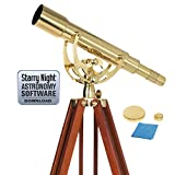 Celestron 22303 Ambassador 50 Brass Telescope (Brass)