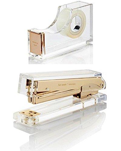Kate Spade New York Assortment - 1) Tape Dispenser and 1) Stapler