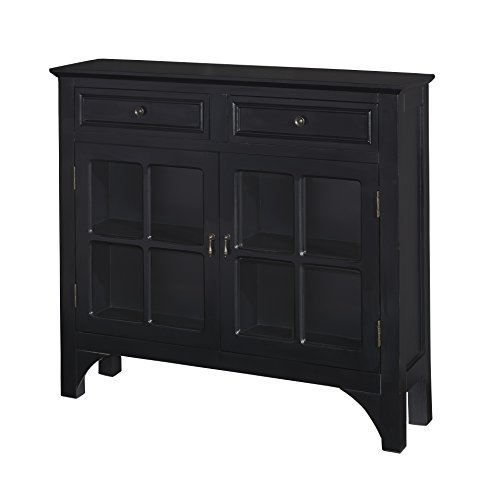 Powell Furniture 15A8185BK Campbell Console (Drawer Storage Powell)