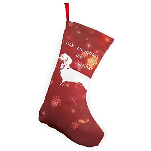 Ask Me About My Weiner Dog Christmas Stockings