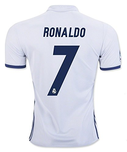 #7 Ronaldo Real Madrid Home Kid Soccer Jersey & Matching Shorts Set 2016-17,White,Youth S (6 to 8 Years Old)