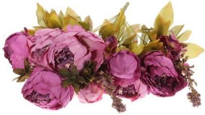 Amazon ifstar 1 bouquets artificial peony silk flowers home ifstar 1 bouquets artificial peony silk flowers home wedding decoration purple mightylinksfo