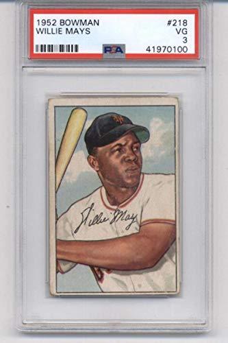 1952 Bowman #218 Willie Mays - NY Giants MLB Baseball Card PSA 3 VG ()