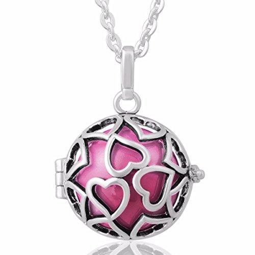 Harmony ball amazon eudora harmony bola endless love locket pandent necklace 20mm musical chime ball 30 chain pink aloadofball Images