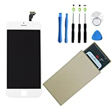 VN STORE for iPhone 6 Screen Replacement Lcd Touch Screen Digitizer Frame Assembly with Replacement Kit (White 4.7 inch LCD)