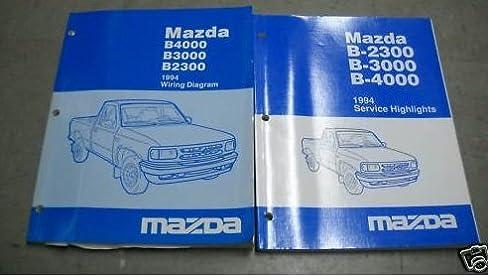 1994 mazda b4000 b3000 b2300 service shop manual set (wiring 1994 mazda b3000 engine diagram 1994 mazda b4000 b3000 b2300 service shop manual set (wiring diagrams manual, and the service highlights manual) mazda amazon com books