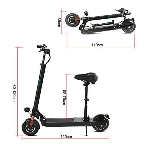 Anfan Folding Electric City Scooter With Retractable Seat Adult E bike (US STOCK)