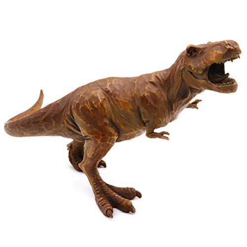 - Hand-Painted Resin Dinosaur T-Rex Walking Tyrannosaurus Realistic Sculptured Spectacular Statue Model Kids Boys Toy Miniatures Home Office Decorative Collection Education Gift-for Ages 3 and up