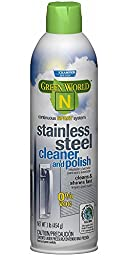 Champion 5909 Sprayon Green World N Stainless Steel Cleaner and Polish, 16 oz Aerosol (Pack of 12)