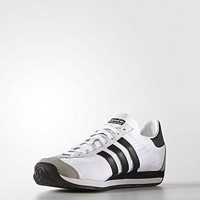san francisco 68822 66a66 Amazon.com  Mens Adidas Originals Country OG Trainers White Black Nylon  Suede S79106 (9)  Fitness  Cross-Training