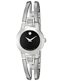 Movado Women's 604982 Amorosa Diamond Accented Bangle Bracelet Watch