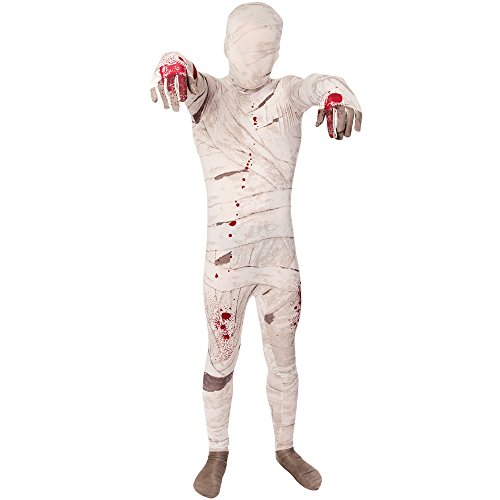 Mummy Kids Morphsuit Costume - size Small 3'-3'5 (91cm-104 cm) ()